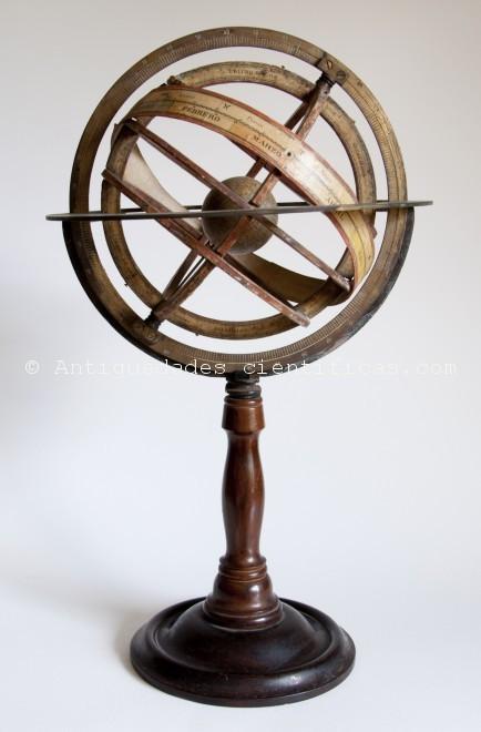 Esfera-armilar-antigua-española