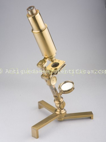 microscopio ingles antiguo